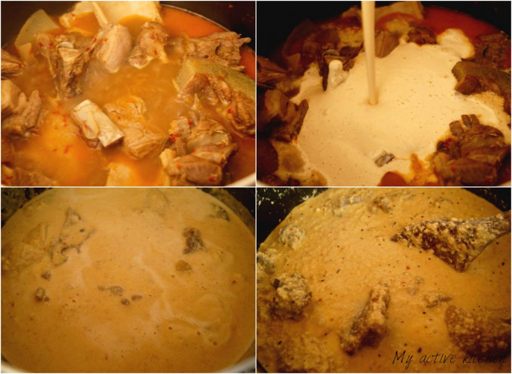 process shot of cooking nigerian soup