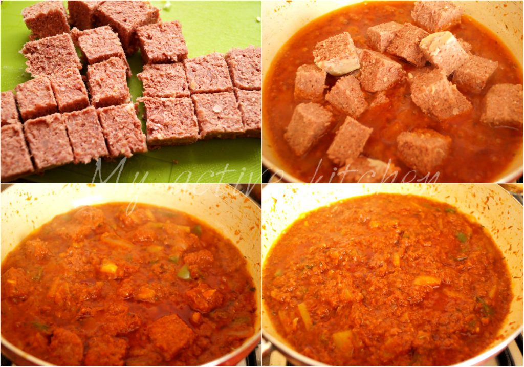image collage of beef stew in a pan