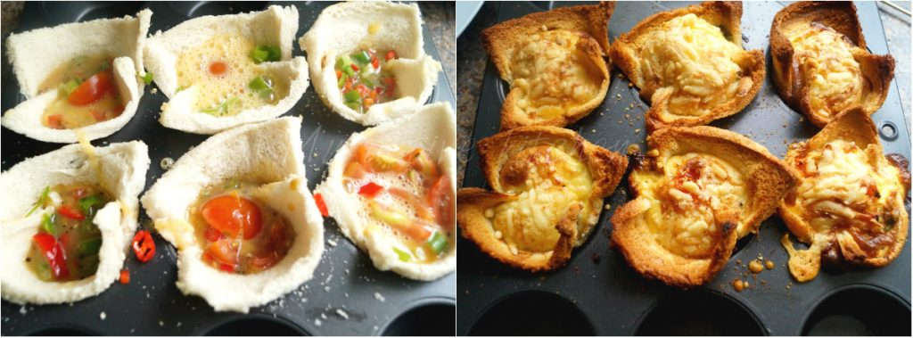 egg in toast cups.