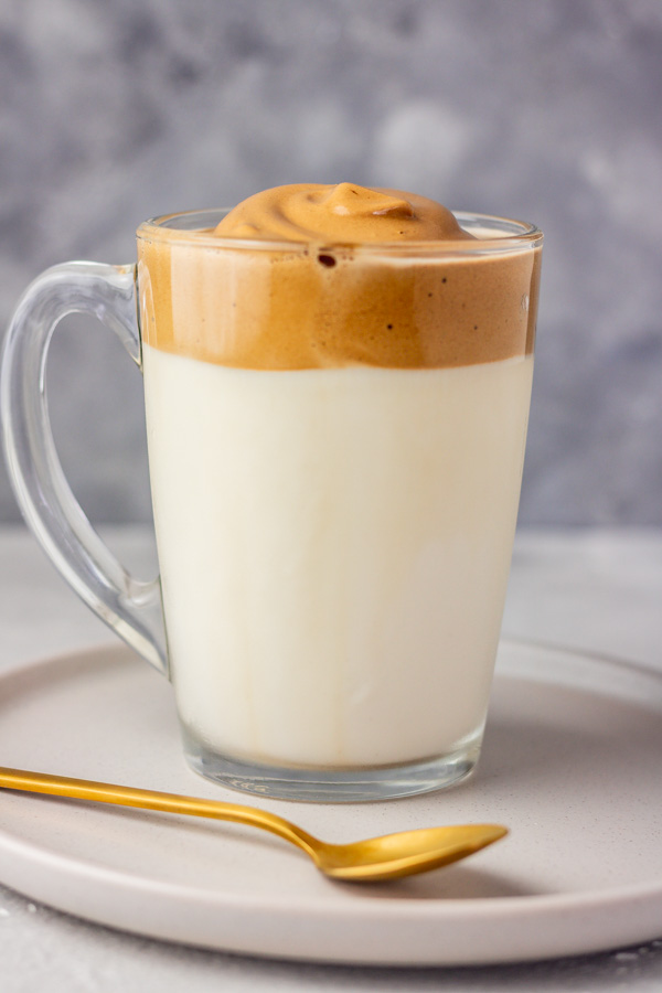 a cup of whipped dalgona coffee.